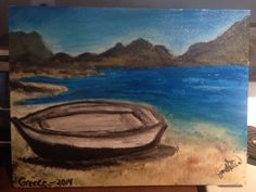 Beached boat --- oil in canvas