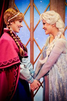 Can I please go to Disney World and see Elsa and Ana?!