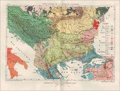 Etnographical map of Balkans - before 1889