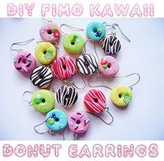 DIY: Fimo Kawaii Donut Earrings