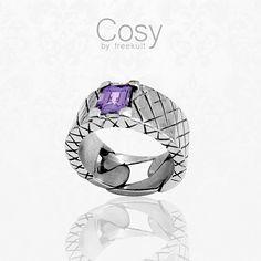 COSY ring - amethyst - www.freekult.com