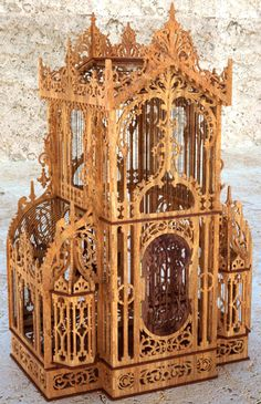 Venetian birdcage, scroll saw fretwork pattern