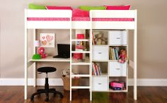 The Stompa Uno White High Sleeper & Storage Set is perfect for a teenager's bedroom!