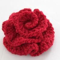 easy knit flower