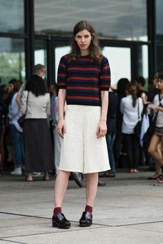 striped sweater + matching socks