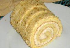 TĚSTO: Ušleháme žloutky s krupicovým cukrem do husté pěny. Bílky vyšleháme do hustého sněhu, ke kterému přidáme žloutkovou pěnu a mouku. Těsto nalijem... Czech Desserts, Cookie Desserts, Dessert Recipes, Czech Recipes, Graham Crackers, Nutella, Baked Goods, Baking Recipes, Bakery