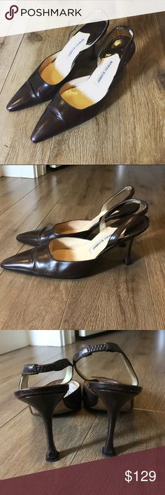 Made in Italy Manolo Blahnik leather sandals Pumps Made in Italy Manolo Blahnik leather pointy sandals. Super stylish and comfy. Excellent condition. From non-smoking, non-pet home. Don't forget to add any two things in my closet and receive an extra 10% off! no trades. Manolo Blahnik Shoes Heels