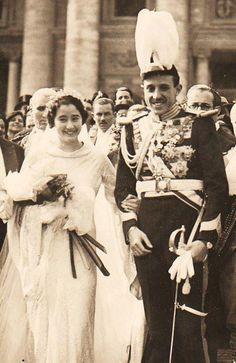 Jaime/Duke of Segovia weds Emmanuelle de Dampierre in 1935
