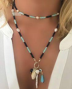 Fashion Jewelry Necklaces, Cute Jewelry, Boho Jewelry, Jewelry Crafts, Beaded Jewelry, Jewelry Accessories, Jewelry Design, Beaded Bracelets, Jewelery