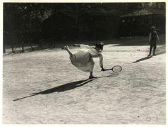 "hauntedbystorytelling:  ""Jacques-Henri Lartigue :: Suzanne Lenglen, Nice, France, 1915. Gelatin silver print; printed c.1963. From JHL: A New Paradise / src: howard greenberg  """