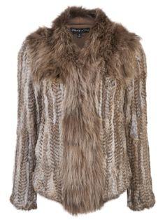 Elizabeth and James Knitted Fur Jacket by ellen