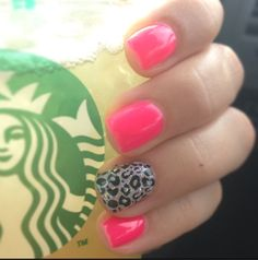 Hot pink glitter cheetah gel nails!!! Great Deals  FREE SHIPPING ON ANY ITEM!!!! Visit My website for details www.moderndomainsales.com
