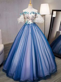 On Sale Nice Prom Dresses Lace, Prom Dresses Long, Prom Dresses Blue Long Prom Gowns, Ball Gowns Prom, Ball Dresses, Prom Long, Ball Gowns Fantasy, Royal Ball Gowns, Short Prom, Royal Blue Prom Dresses, Blue Evening Dresses