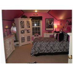 Zebra Fun - Girls' Room Designs - Decorating Ideas - Rate My Space found on Polyvore