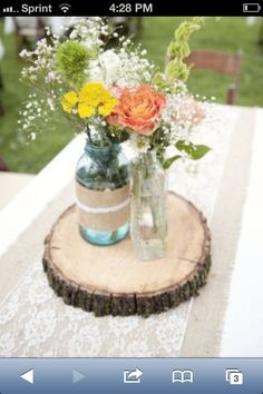 Wood centerpiece base.