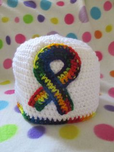 Crochet Autism Awareness hat