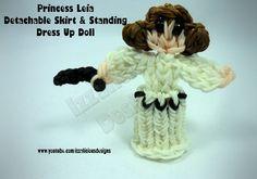 Rainbow Loom Princess Leia Charm/Action Figure - Detachable Skirt & Stan...