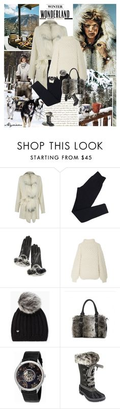 """""""Cold winter"""" by lovemeforthelife-myriam ❤ liked on Polyvore featuring Blumarine, Wolford, Overland Sheepskin Co., I Love Mr. Mittens, UGG, Vacheron Constantin and London Fog"""