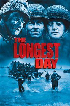 The Longest Day Movie Poster - John Wayne, Henry Fonda, Richard Burton  #TheLongestDay, #JohnWayne, #HenryFonda, #RichardBurton, #BernhardWicki, #KenAnnakinAndrewMarton, #ActionAdventure, #Art, #Film, #Movie, #Poster