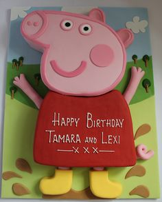 Peppa Pig birthday cake!! by Pauls Creative Cakes, via Flickr