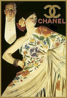 Art Poster Fashion Ritzzy Classic Chic Chanel Deco Haute Couture Print | eBay