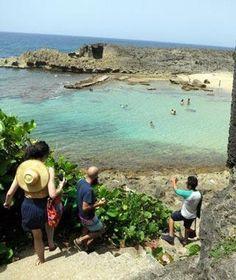 La Poza de las Mujeres, a hidden beach in Manatí, Puerto Rico.