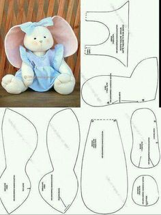 Free pattern to sew Patchwork toys and Felt toys tutorial Sewing Stuffed Animals, Stuffed Animal Patterns, Felt Crafts, Easter Crafts, Easter Gift, Easter Bunny, Doll Patterns, Sewing Patterns, Sewing Crafts