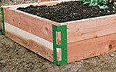 raised bed corner brackets http://activelifeessentials.com/sustainable-living/ #sustainableliving #gardening