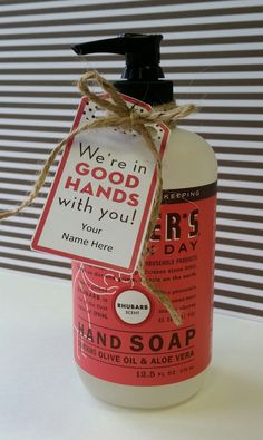 """""""We're in good hands with you!"""" Free Teacher Appreciation Printable Gift Tag - HomeRoom Mom"""