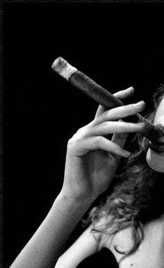 Are you serious? A cigar? Damn girl!