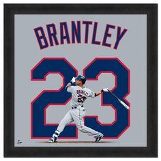 "Cleveland Indians Michael Brantley 20"" x 20"" Uniframe"
