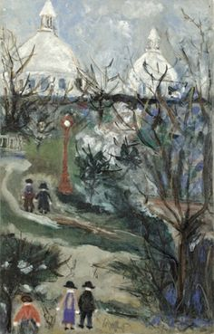 Montmartre, Square St. Pierre (1950) - MauriceUtrillo. Maurice Utrillo, born Maurice Valadon, was a French painter who specialized in cityscapes. Born in the Montmartre quarter of Paris, France, Utrillo is one of the few famous painters of Montmartre who were born there.