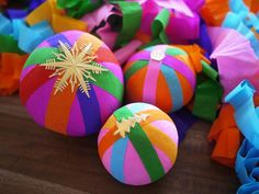 DIY surprise balls- cute & fun way of wrapping presents :) #lulusholiday