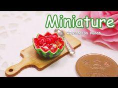 미니어쳐 수박 화채 만들기 Miniature * Watermelon Punch - YouTube
