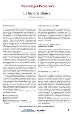 La Historia Clínica en Neurología Pediátrica  #Neurologia #NeurologiaPediatrica #Medicina #LibreriaAZMedica #HistoriaClinica