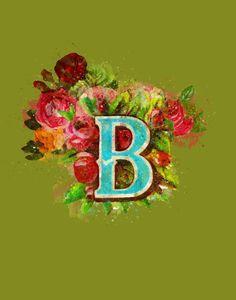 Gothic Floral Monogram Print. Digital Download. Dramatic Art. Unusual Living | Etsy Dramatic Arts, Bold Colors, Printable Art, Floral Arrangements, Gothic, Horror, Digital Art, Handmade Items, Monogram
