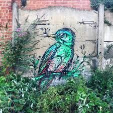 Dzia an Antwerp based streetartist, I love the colours on this one! This bird just brightens my day. (Vilvoorde - BE)