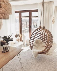 Boho Living Room, Living Room Decor, Swinging Chair, Aesthetic Rooms, My New Room, First Home, Cheap Home Decor, Home Decor Inspiration, Home Interior Design