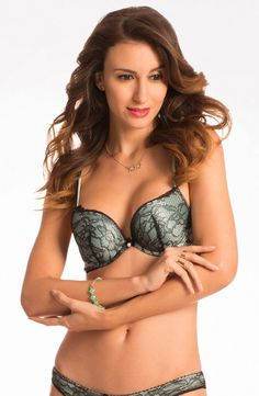 "ab4f034f7fc PrettySecrets ""Scandalous"" Misty Mint Plunge Push Up Bra. Price  Rs.999"