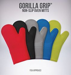 Throw out your old-fashioned oven mitts and try the BEST OVEN MITTS you will ever own - The #GORILLA #GRIP non-slip silicone oven mitts. What does a Gorilla have ...
