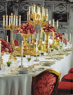 Indian Weddings Inspirations. Gold Tablescapes. Repinned by #indianweddingsmag indianweddingsmag.com