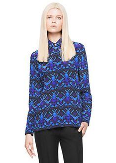 Diamond Reflection print silk shirt