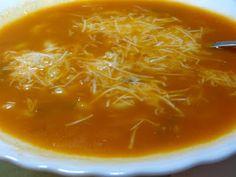 Σούπα με κοφτό μακαρονάκι !! ~ ΜΑΓΕΙΡΙΚΗ ΚΑΙ ΣΥΝΤΑΓΕΣ Thai Red Curry, Chili, Soup, Pasta, Ethnic Recipes, Chile, Soups, Chilis, Pasta Recipes