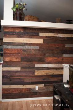 Pallet Wall DIY.  Doing this in bedroom on wall behind bed