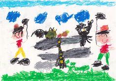 ■■■大熊幼稚園/6歳/男の子■■■ 【作品タイトル】でっかいオニヤンマトンボをみつけた!!【伝えたい事】ぼくはトンボとりの名人。でっかいオニヤンマを見つけたときはうれしかった。