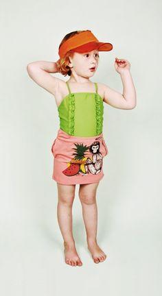 Mini Rodini SS12 Wild At Heart Sirmione Swimsuit