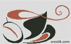 Кофе №40 Еда и напитки  Схема для вышивки scheme for cross stitch
