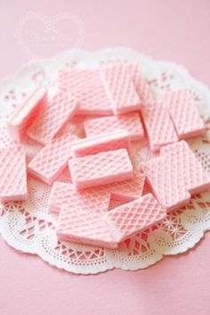 Pink Wafers for ballerina birthday
