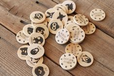 """Make Your Own """"Memory"""" Matching Game. Super easy to do and the animal print outs are right on the site!"""