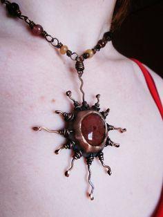 sun fire necklace